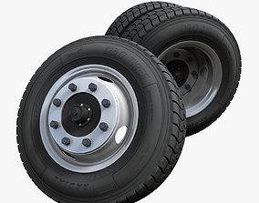 3D Crago Truck wheels highpoly