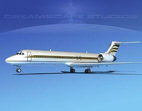 Boeing 717-200 Corporate 8 3D model