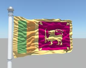 Sri Lanka flag 3D
