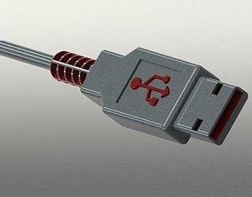 Usb cable 3D model