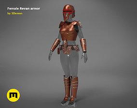 3D print model star Revan Female Armor