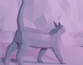 3D printable model CAT LOWPOLY