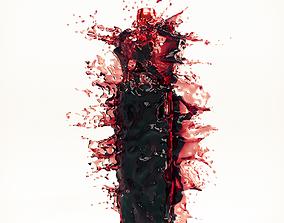 Wine Splash Bottle 2 3D model