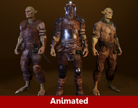 3D model PBR Orc Game Characters Pack