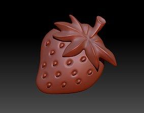 3D Strawberries bilberry
