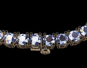 Diamond Tennis Necklace 3 70mm 3D print model