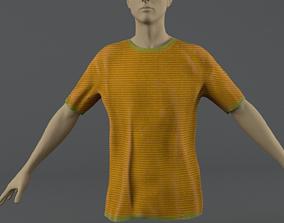 T-shirt 3D model low-poly