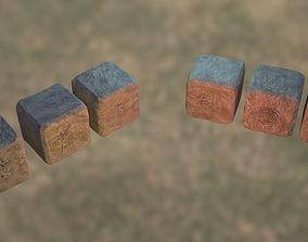 Six-pack Rock set HighPoly 3D