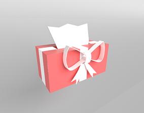 Present Tissue Box v1 005 3D model