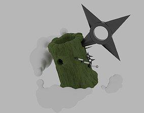3D model naruto wood ninja dodge