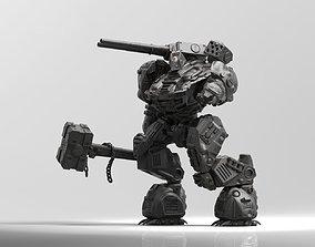 Kuznets Hammer Mech Miniature 3D printable model