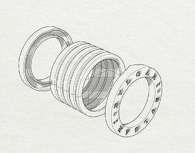 3D print model Band ring Bulgary