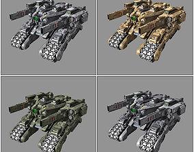 3D asset game-ready SF Drone Tank - MX5