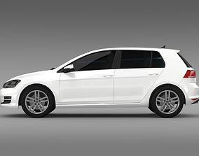 3D model VW Golf TDI 4MOTION 5d Typ 5G 2012