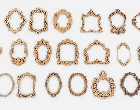 Frames for mirrors and paintings 20 pieces Set-1 3D model