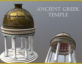 3D asset VR / AR ready Ancient Greek Temple Gazebo