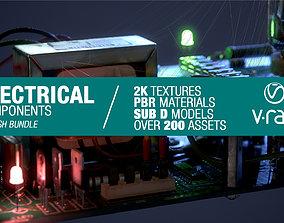 Electrical components bundle 3D asset