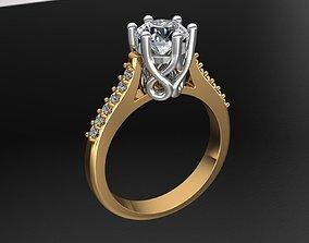 MGold008r Engagment Ring 3D printable model