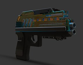 3D model starwars pistol