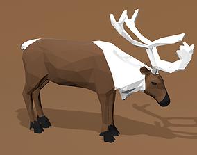 3D model Reindeer Cartoon