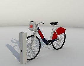 3D asset Santander Hire Bike