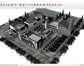 Sketchup Restaurant building B1 3D model