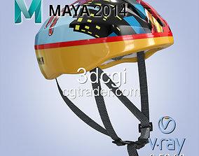 Bike helmet 3D asset VR / AR ready