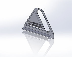 Table Saw Pusher Plate 3D print model