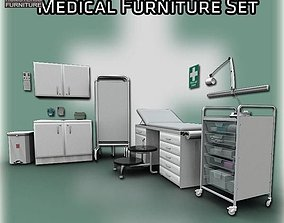 Medical Furniture Set 3D asset