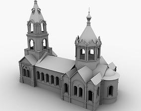Church 3D model christ