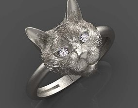 3D print model cat ring jewelry