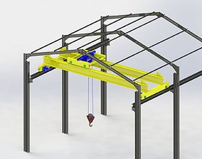 3D model Bridge crane and structure