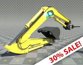 3D model Digger-excavator arm and claw or bucket - SALE