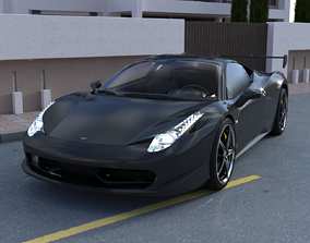 3D Astro sport car