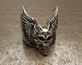 3D printable model Wingued skull ring