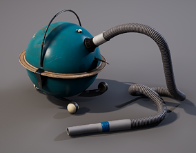 3D asset realtime Old Vacuum cleaner