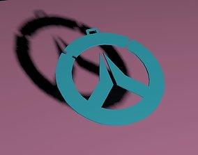 3D print model Overwatch Logo keychain-nacklace-bracelet