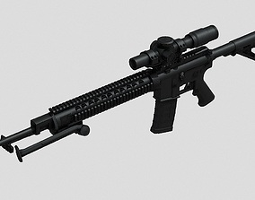 3D asset M16A4 Assault Rifle