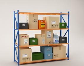 Warehouse Rack Storage 06 3D model