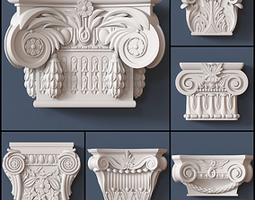 3D model 10 Pilaster Capitals Collection ornament