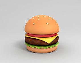 3D model Cartoon Burger