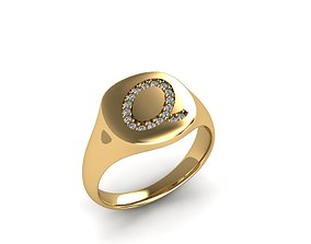 3D print model silver Jewelry Signature Ring