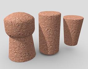 Cork Pack 3D model