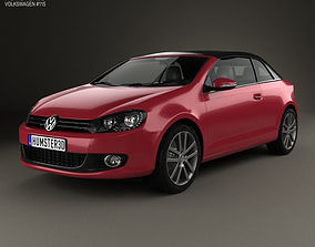 3D Volkswagen Golf convertible 2011