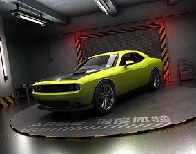 Dodge Challenger Panoramic Ar Vr Sedan sports car 3D