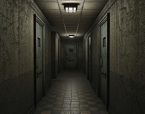 Low Poly Insane Asylum Corridor With PBR 3D model