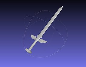 Fairy Tail Erza Scarlet 3D-Printable Sword