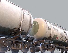 Railway Oil Tank Car vr2 3D model