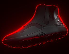 3D model Techwear sneakers high style