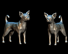 Chihuahua dog high poly 3D printable model